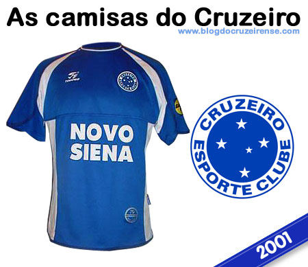 Camisas históricas do Cruzeiro - 2001