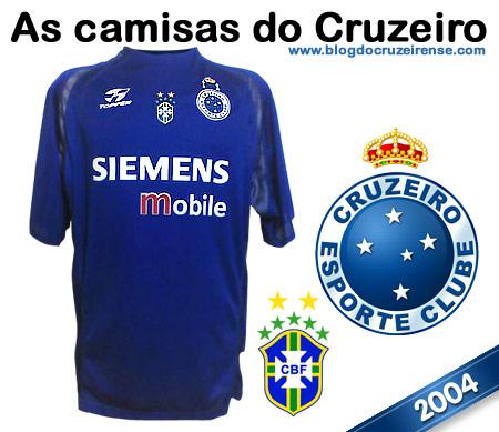 Camisas históricas do Cruzeiro - 2004
